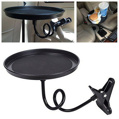 $19.42 • Buy 360° Car Swivel Mount Holder Travel Drink Cup Coffee Table Stand Food Tray Black