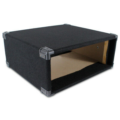 £34.99 • Buy 4U 19  Inch Black Carpet Covered MDF Rack Equipment Sleeve Case Protect Your Amp