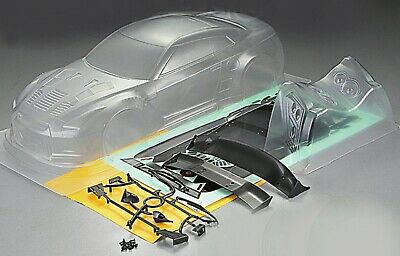 RC 1/10 Car 195mm Unpainted Clear Body Shell Bodies NISSAN GTR R35 GT • 23.99£
