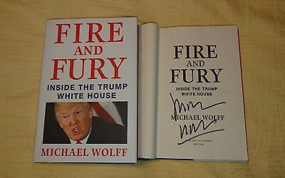 AU107.74 • Buy Signed Book Michael Wolff Fire And Fury Inside The Trump White House HC DJ