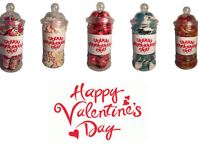 £6.99 • Buy Valentines Sweets Chocolates Individual Jars Gift Presents Wedding Favours