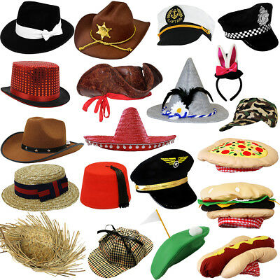£6.99 • Buy Fancy Dress Hats Choose From Novelty Character Photobooth Hat Prop Party Hat Lot