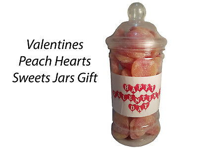 £5.99 • Buy Valentines Day Peach Hearts Sweets Candy Jars Gift Presents Kids Partners