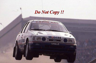 Francois Delecour Ford Sierra RS Cosworth 4x4 Portugal Rally 1992 Photograph 1 • 4£