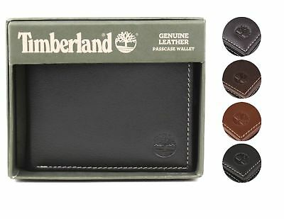 $19.98 • Buy Timberland Men's Genuine Leather Passcase Credit Card Id Billfold Wallet