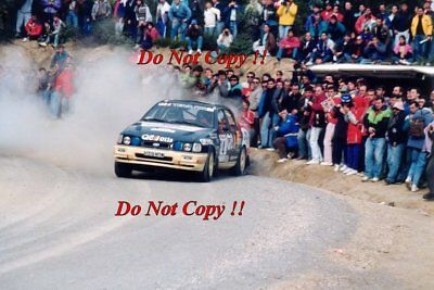 Francois Delecour Ford Sierra RS Cosworth 4x4 Catalunya Rally 1991 Photograph 1 • 4£