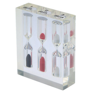 AU9.29 • Buy Clear Acrylic Sand Glass Hourglass Timer 1+2+3 Min Tea/Cafe Children Gifts