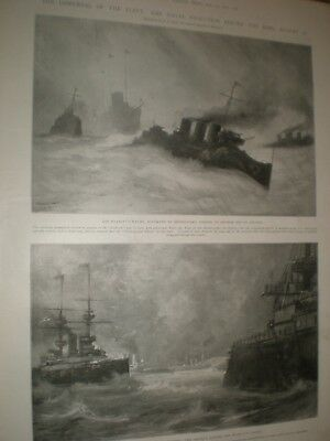 Dissipation Of The Fleet After Naval Review Off St Helens Isle Of Wight 1902 • 9.99£