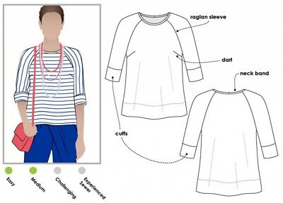 £12.99 • Buy Style Arc Ladies Sewing Pattern Maddison Top (MLTB008S-M)