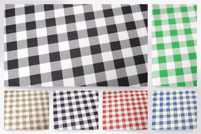 £5.99 • Buy Gingham Check Print Plastic Coated PVC Table Protector Fabric (PVCTP-Check-M)