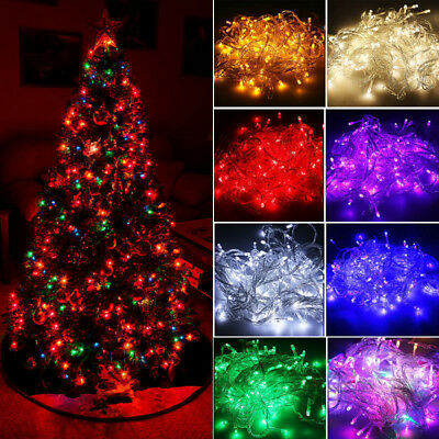$11.49 • Buy 20M 200 LED Christmas String Lights Wedding Xmas Party Decor Outdoor Indoor Lamp