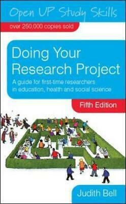 £4.48 • Buy Open UP Study Skills: Doing Your Research Project: A Guide For First-time