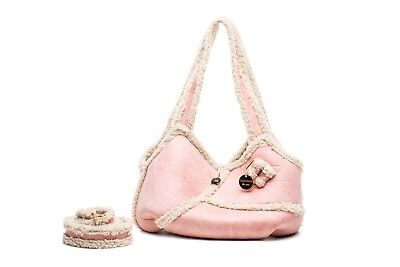 View Details NWT Inamorada Handmade Italian Pink Soft Faux Leather Small Dog Carrier Bag  • 138.60£