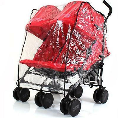 Heavy Duty Rain Cover To Fit Britax B-agile Double Pushchair • 13.95£