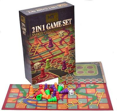 £6.59 • Buy 2 In 1 Traditional Board Game Set - Snakes & Ladders And Ludo Folding Board