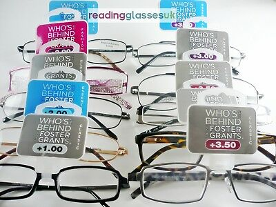 FOSTER GRANT READING GLASSES Mens Womens 15 STYLES +1.0 1.25 1.5 2.0 2.5 3 3.5  • 2.89£