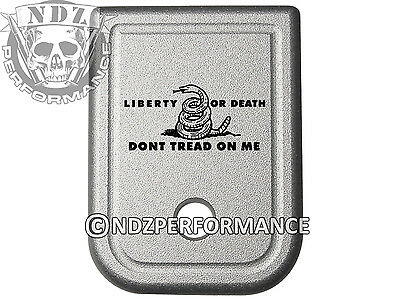 $19.99 • Buy For Glock Magazine Plate 17 19 22 23 26 27 34 35 9mm 40 SIL Don't Tread On Me LD