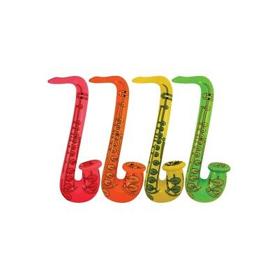 £2.98 • Buy Inflatable Saxophone 55cm Blow Up Fancy Dress Party Musical Music Instrument