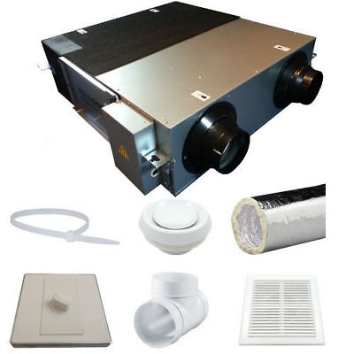 £935.01 • Buy Heat Recovery Ventilation System DHV-35N 90% Efficient Condensation Control