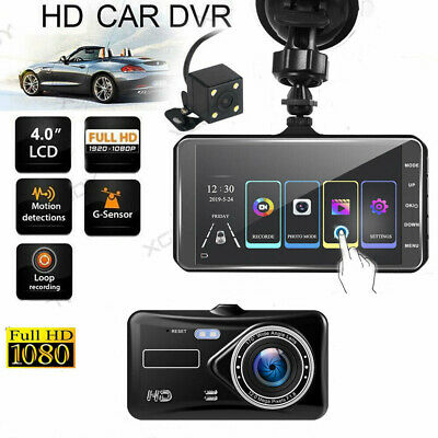 AU50.99 • Buy 4  Dash Cam FHD 1080P Front And Rear Car Dashboard Dash Camera 170° DVR Recorder