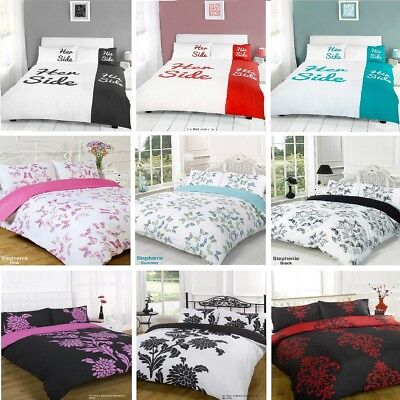 £11.50 • Buy Duvet Cover With Pillow Case Quilt Cover Bedding Set All Size Single Double King