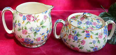 $ CDN80.56 • Buy  Royal Winton Grimwades Old Cottage Chintz Countess Creamer Sugar Vintage #9632