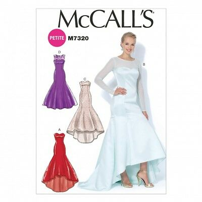 McCalls Ladies Sewing Pattern 7320 Mermaid Hem & High Low Evening Dresses... • 10.50£