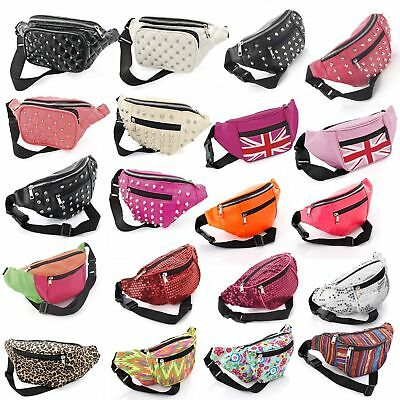 Bum Bag Fanny Pack Pouch Travel Festival Waist Belt Leather Holiday Money Wallet • 4.34£