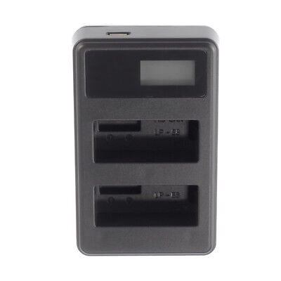 LCD USB Dual/2 Battery Charger For Canon EOS 550D 600D 650D 700D Rebel T4i LP-E8 • 5.65£