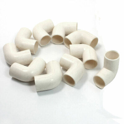 £5.54 • Buy 10 X White PVC Drainage Pipe Adapter Elbow Connectors Fittings 16mm Dia.