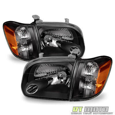 $119.99 • Buy For Blk 2005-2006 Toyota Tundra 2007 Sequoia Headlights Corner Lamps Left+Right