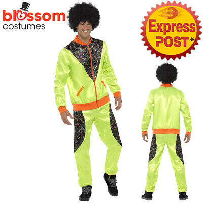 AU31.50 • Buy CA654 Mens Retro Neon 80's Height Fashion Scouser Tracksuit Shell Suit Costume