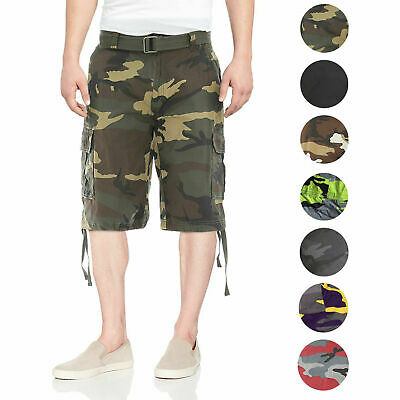 146bf790a2 Men's Tactical Combat Military Army Cotton Twill Camo Cargo Shorts With  Belt • 24.95$