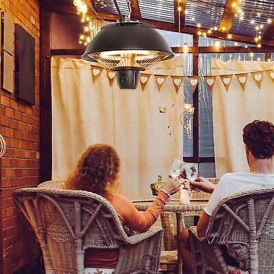 £36.99 • Buy Outsunny Patio Ceiling Heater Hanging Halogen Hook Chain Black 600W