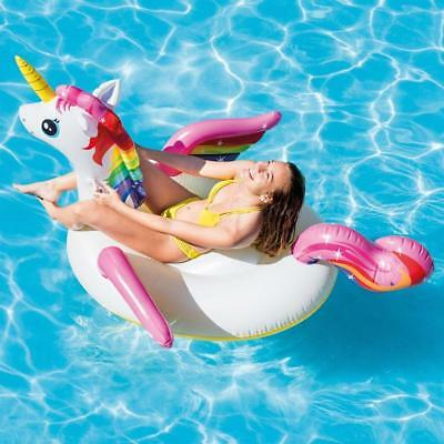 £13.99 • Buy Intex 79  Giant Unicorn Inflatable Swimming Pool Lounger Ride-on Beach Float Toy