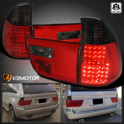 $138.12 • Buy 2000-2006 BMW X5 E53 Red/Smoke LED Tail Lights Rear Brake Lamps Left+Right