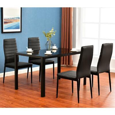 New 5/7 Piece Dining Table Set Different Style Tables Glass Metal Furniture US • 143.99$