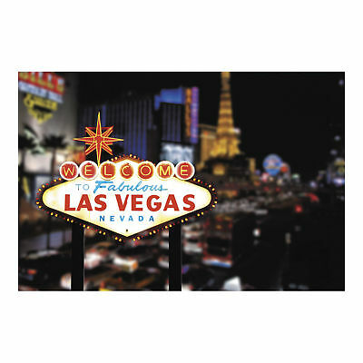 $16.95 • Buy LAS VEGAS Sign Strip BACKDROP BANNER Photo Prop WALL MURAL Casino Night Party