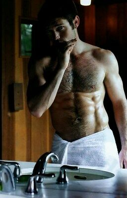 $ CDN3.64 • Buy Shirtless Male Muscle Hunk Hairy Chest Masculine Dude In Towel PHOTO 4X6 N274