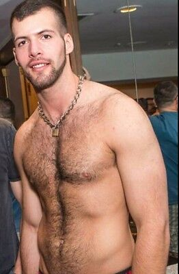 $ CDN3.27 • Buy Shirtless Male Muscular Athletic Beefcake Hairy Chest Beard Dude PHOTO 4X6 C1473