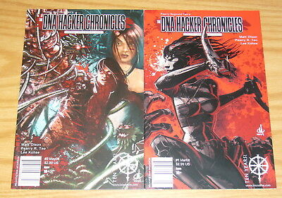 DNA Hacker Chronicles #1-2 VF/NM Complete Series - Government Natural Selection • 14.48AU