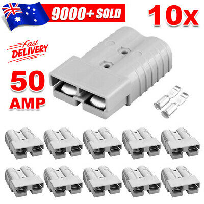 AU18.45 • Buy 10 X Anderson Style Plug Connectors DC Power Tool 50 AMP 12-24V 6AWG
