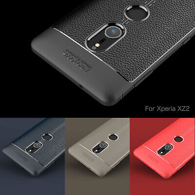 AU5.33 • Buy Soft Anti Skid TPU Leather Silicone Lychee Pattern Bumper Cover Case For Sony