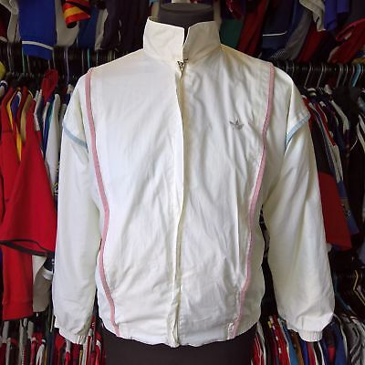 White Track Top Made In West Germany 1980s Vintage Adidas Jersey Size Adult S • 19.99£