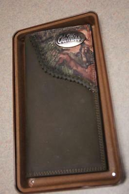 $46 • Buy ZEP-PRO Ole Miss Rebels Roper Leather Fence Row Camo Wallet With TIN GIFT BOX