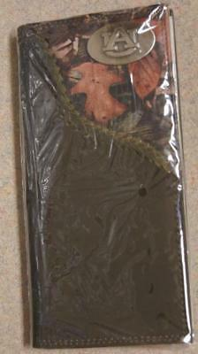 $39 • Buy ZEP-PRO Auburn Tigers Mens Roper Leather Fence Row Camo Wallet Only NO BOX