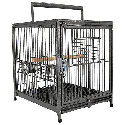 PawHut Parrot Cage Travel Carry Pet Bird Cage Cockatiel W/ Handle Metal • 48.99£
