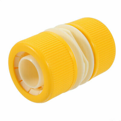 1.2  Drip Irrigation Wartering Pipe Hose Connecter Connecting Plastic Yellow • 6.43£