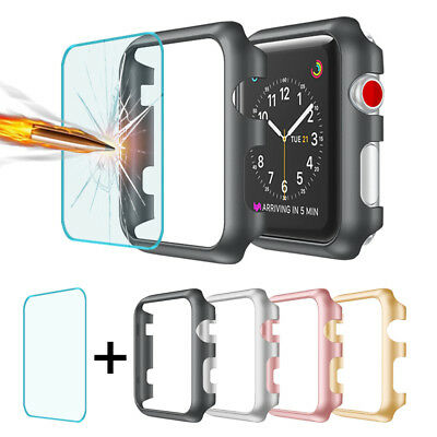 $ CDN10.56 • Buy For Apple Watch Series 1/2/3 Bumper Case+Tempered Glass Screen Protector 38/42mm