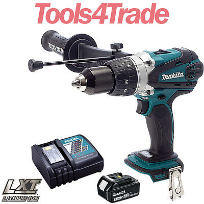 Makita DHP458Z 18V LXT Cordless Combi Drill With 1 X 3Ah BL1830 Battery, Charger • 156£